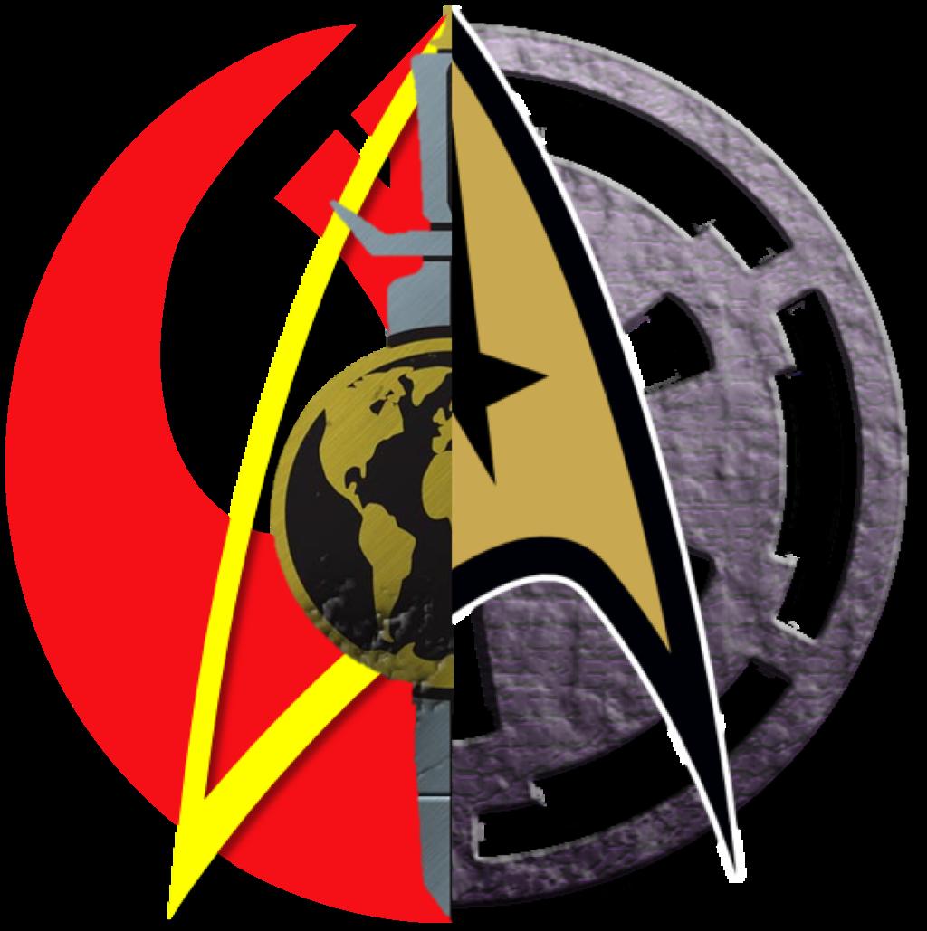 Star wars empire clipart png black and white Star Trek vs. Star Wars Logos Good vs Evil 2 png by ENT2PRI9SE on ... png black and white