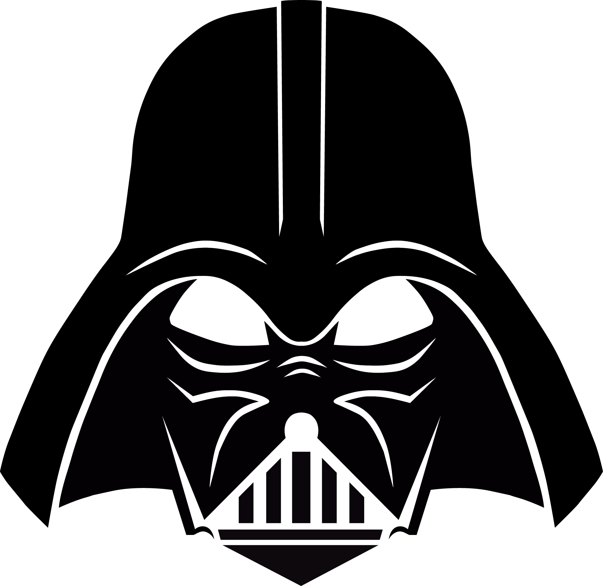 Star wars helmet clipart picture black and white download Darth Vader PNG Image - PurePNG | Free transparent CC0 PNG Image Library picture black and white download
