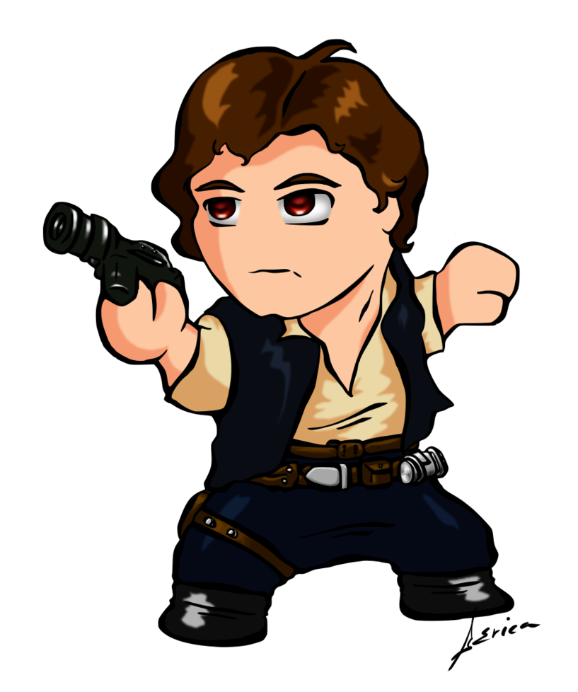 Star wars hans solo clipart jpg transparent Chibi Han by alfalyr on DeviantArt jpg transparent