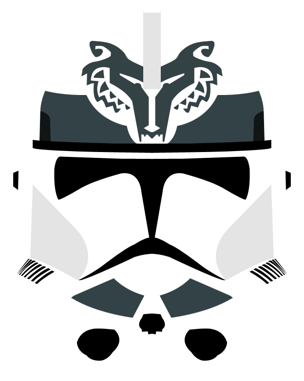 Star wars helmet clipart clipart stock Wolfpack Phase II Clone Helmet by PD-Black-Dragon on DeviantArt clipart stock
