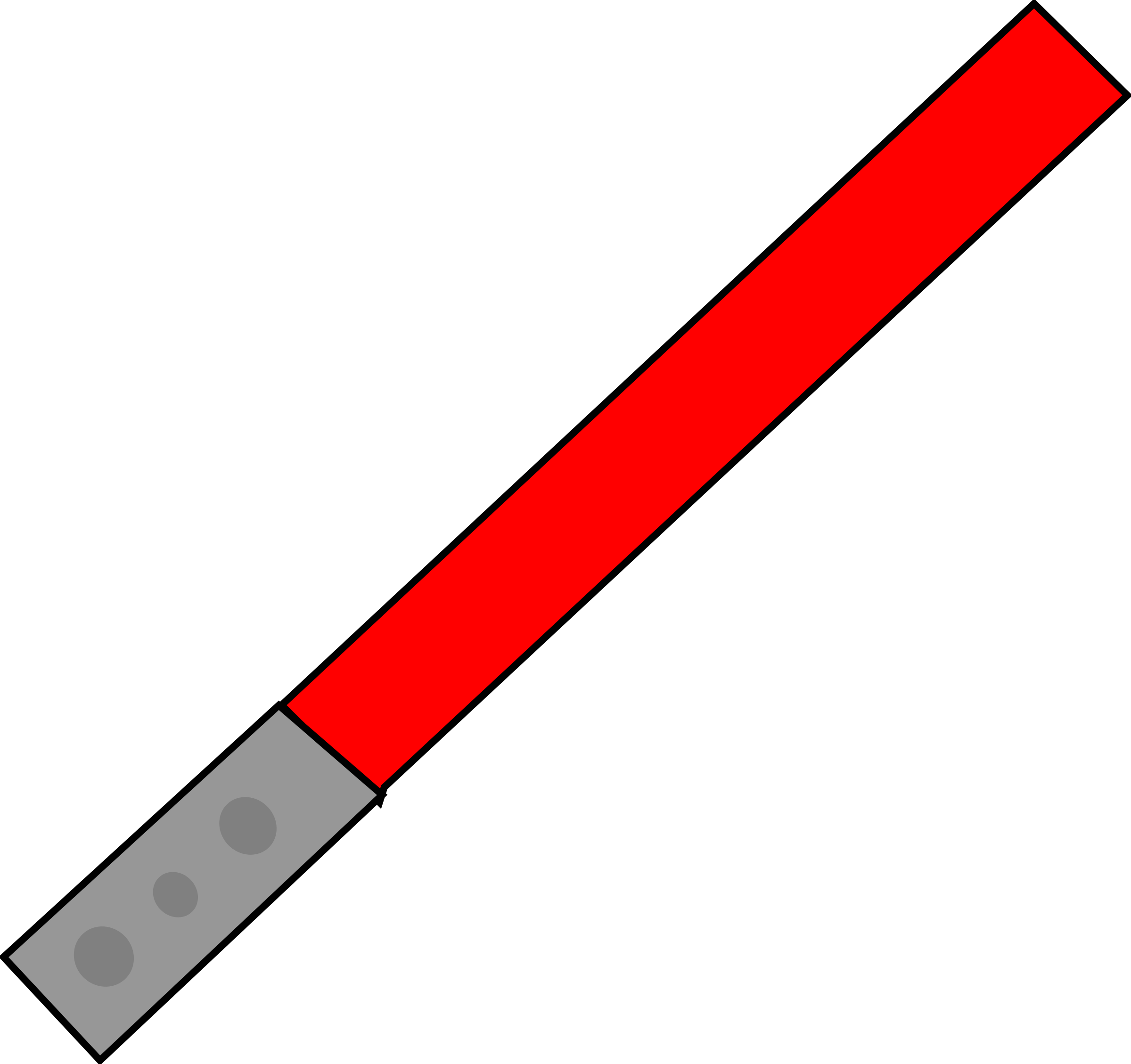 Star wars light saber clipart vector black and white library Clipart - Red Light Saber vector black and white library