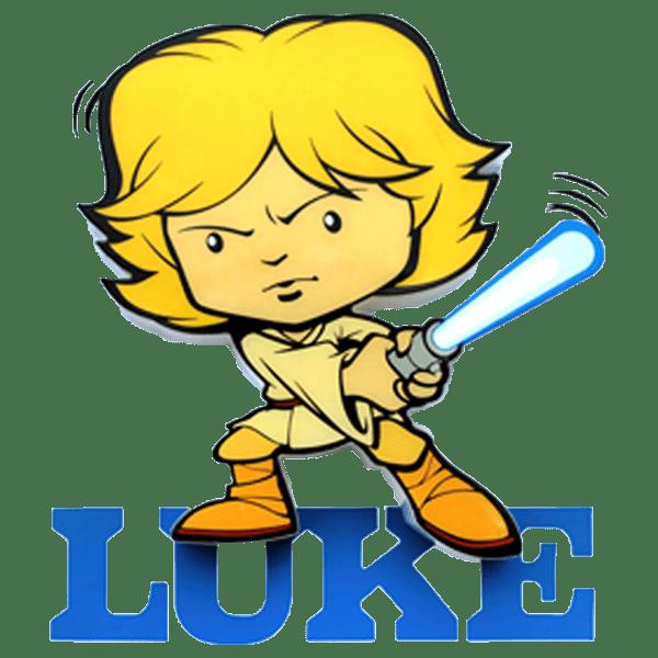 Star wars luke clipart royalty free Star Wars - Luke Skywalker - Mini 3D LED Night Light - ZiNG Pop Culture royalty free