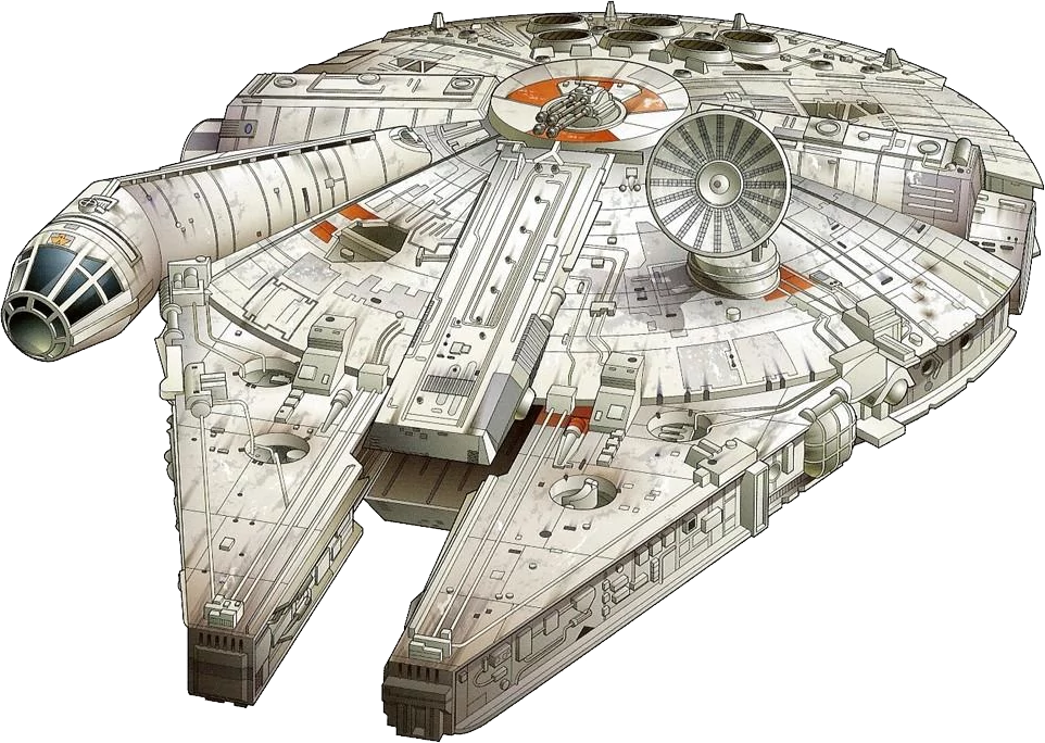 Star wars millennium falcon clipart graphic free download Han Solo Millennium Falcon Star Wars Clip art - Star Wars PNG 962 ... graphic free download