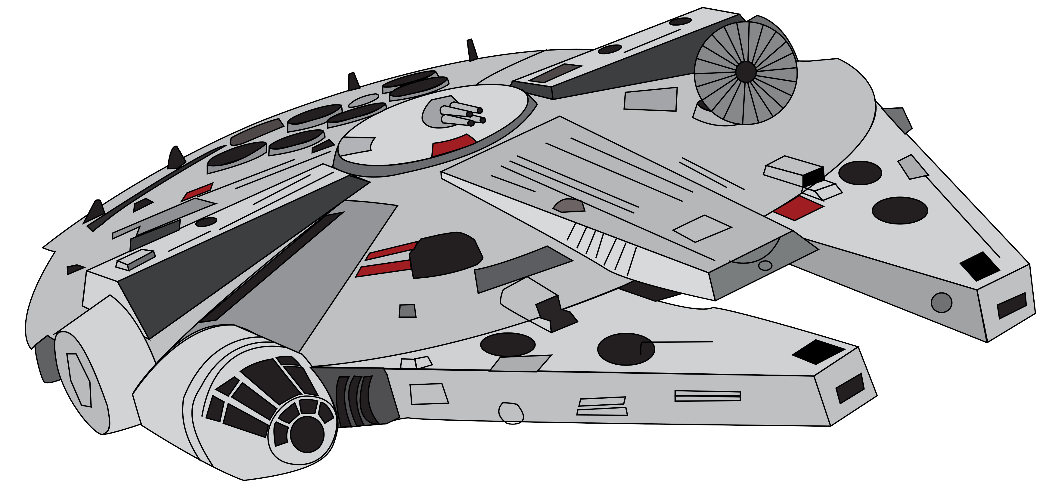Star wars millennium falcon clipart graphic black and white library 28+ Collection of Millennium Falcon Cartoon Drawing | High quality ... graphic black and white library