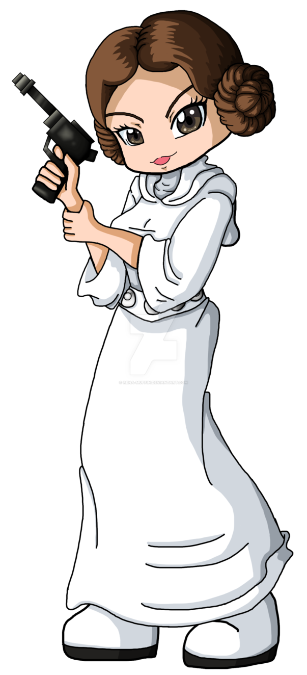 Star wars princess leia clipart black and white library Princess Leia Bookmark by Rena-Muffin on DeviantArt black and white library