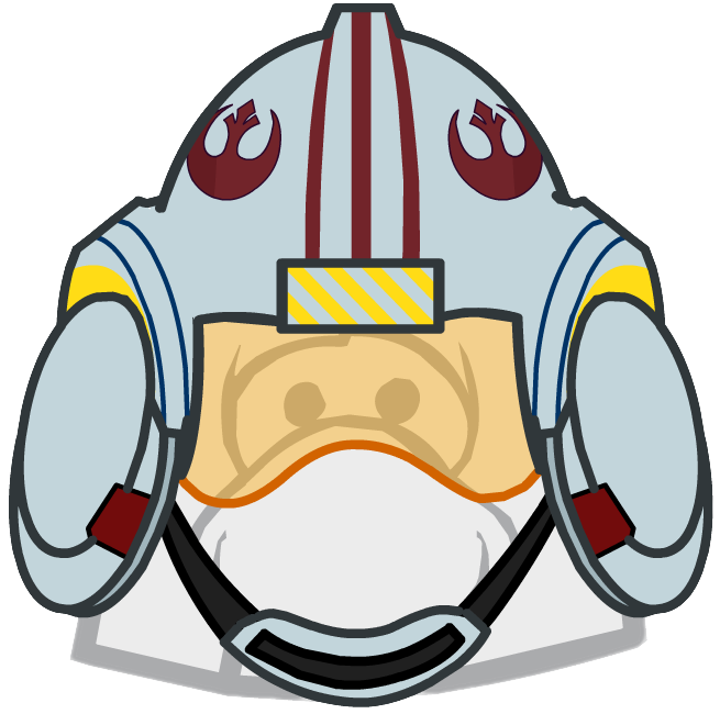 Star wars rebel helmet clipart png freeuse Image - X-wing Helmet clothing icon ID 1642.PNG | Club Penguin Wiki ... png freeuse