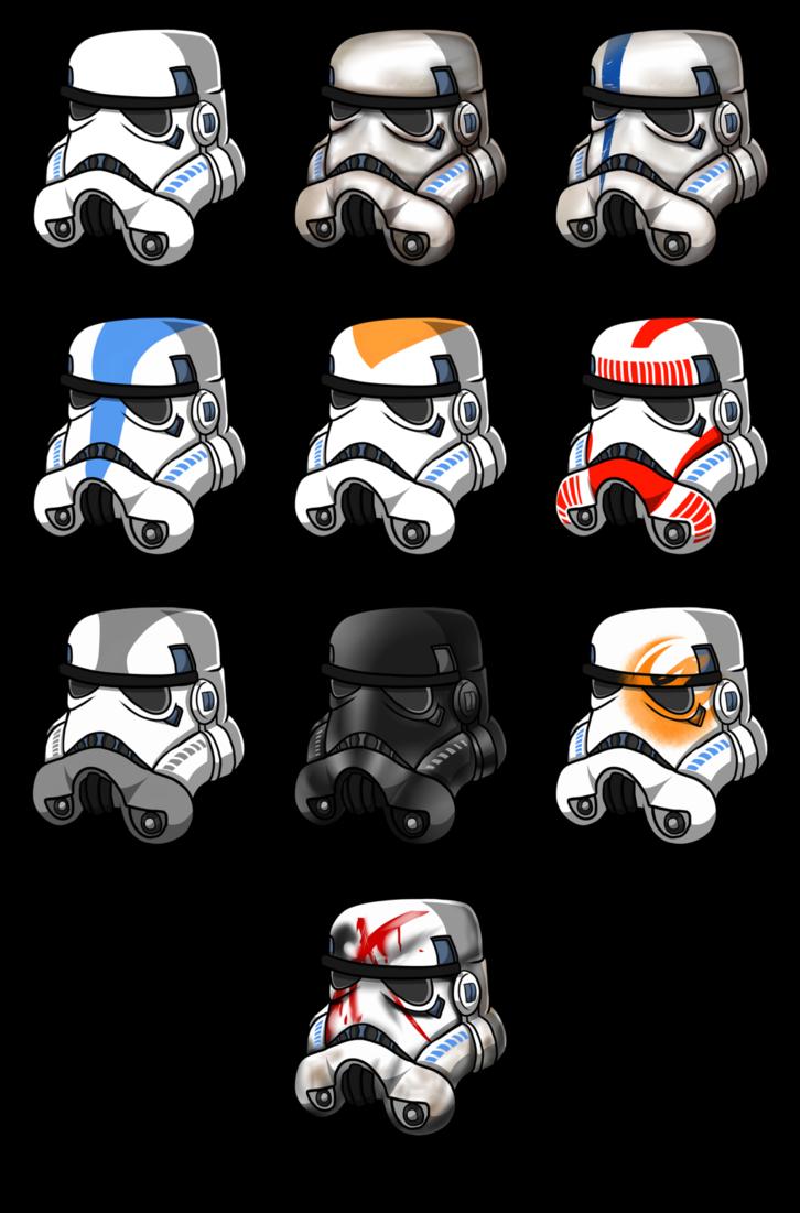 Star wars rebel helmet clipart clipart transparent download Stormtrooper helmets by Azure-Arts on DeviantArt clipart transparent download