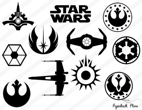 Star wars ship silhouette simple clipart graphic stock Pin by Scrapbook My Life on Scrapbook Printables | Star wars ... graphic stock