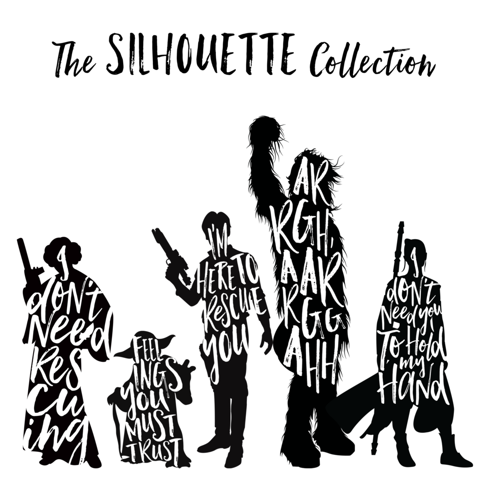 Star wars silhouette clipart vector free stock Star Wars Silhouette | o-val.me vector free stock