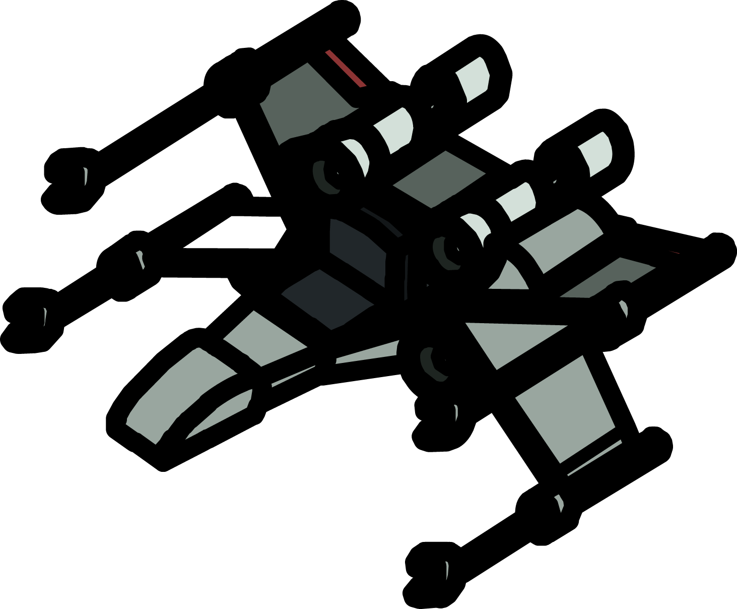 Star wars x wing clipart svg black and white X-wing Fighter Chair | Club Penguin Wiki | FANDOM powered by Wikia svg black and white