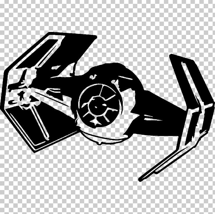 Star wars vehicles black and white clipart graphic black and white stock Anakin Skywalker Star Wars: TIE Fighter Wall Decal PNG ... graphic black and white stock