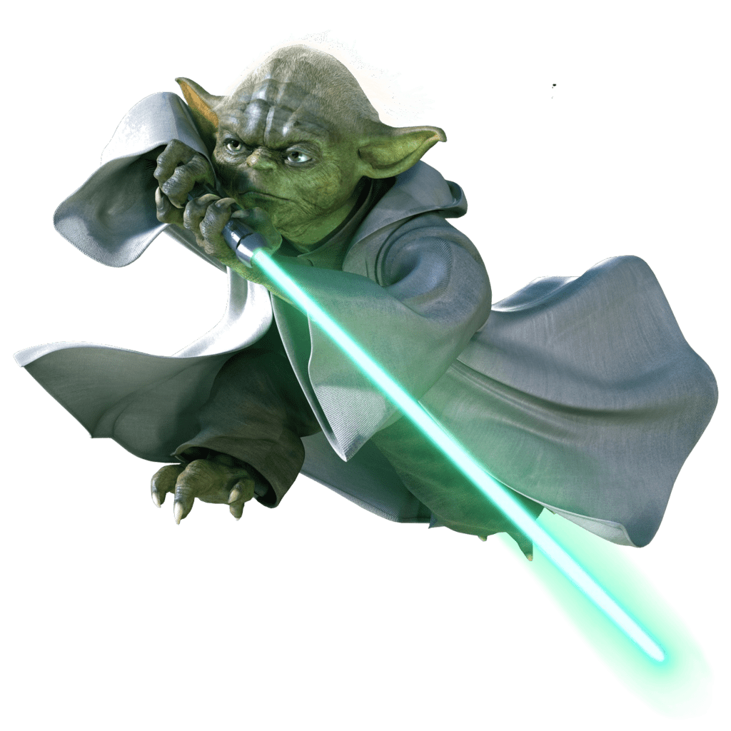 Star wars yoda clipart graphic black and white library Yoda Flying transparent PNG - StickPNG graphic black and white library