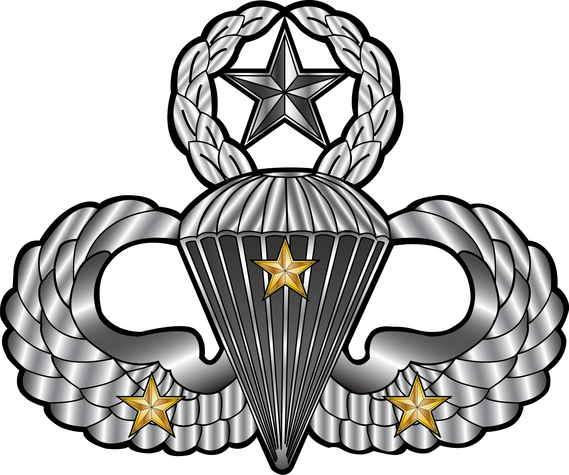 Star with wings clipart jpg freeuse stock Master Jump Wings (With 3 Combat Jumps)This is a detailed ... jpg freeuse stock