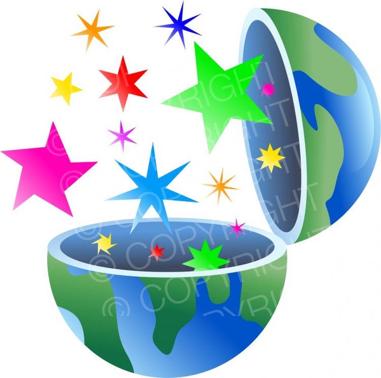 Star world clipart banner library Star World Globe Concept Clip Art Illustration – Prawny ... banner library