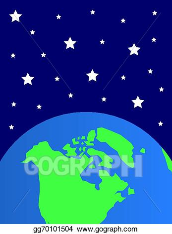 Star world clipart image royalty free Vector Clipart - Earth stars. Vector Illustration gg70101504 ... image royalty free