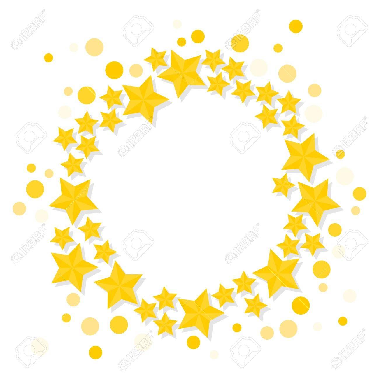 Star wreath clipart clip transparent download Golden Stars Pictures | Free download best Golden Stars ... clip transparent download