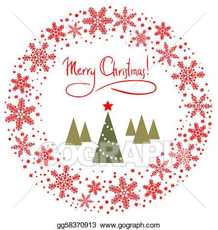 Star wreath clipart jpg black and white download Drawing - Red christmas wreath. Clipart Drawing gg58370913 ... jpg black and white download