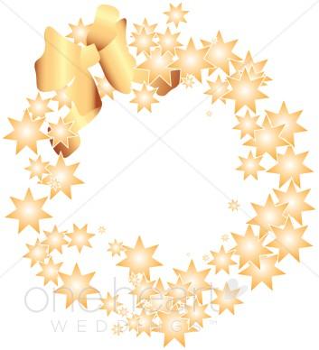 Star wreath clipart vector freeuse library Gold Star Wreath Clipart | Wedding Wreath Clipart vector freeuse library