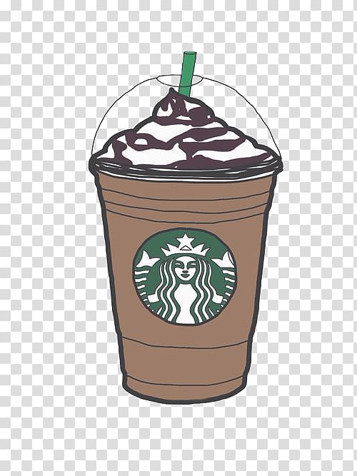 Starbucks iced coffee clipart clipart transparent download Starbucks cup , Coffee Latte Starbucks Frappuccino , Hand ... clipart transparent download