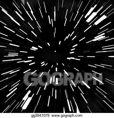 Starfield clipart png black and white stock Stock Illustration - Zoom blur starfield. Clipart Drawing ... png black and white stock