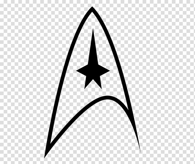 Starfleet symbol clipart png library library Black Star Trek logo, Logo Star Trek Starfleet Symbol, decal ... png library library