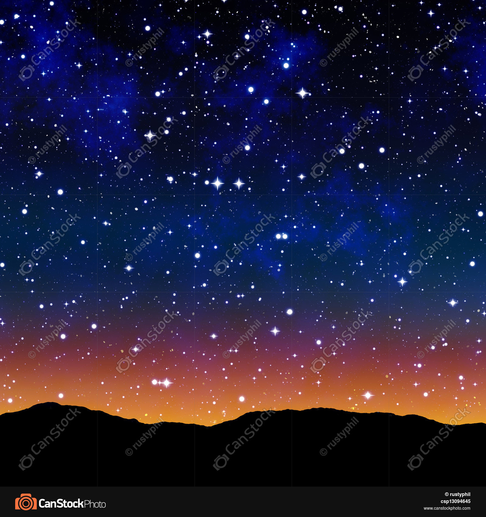 Starry night sky with moon clipart jpg freeuse library Vector Starry Night Sky Stars Silhouette City Moon Royalty ... jpg freeuse library