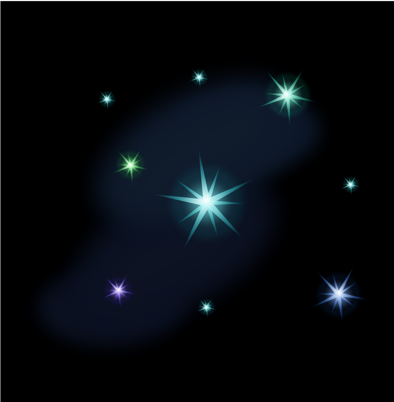 Starry night sky with moon clipart banner transparent stock Free clip art \