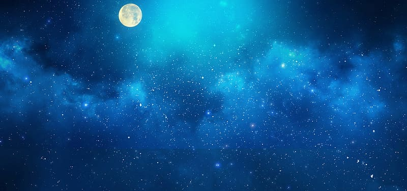 Starry night sky with moon clipart vector transparent library Full moon and starry night, Atmosphere Sky Universe Outer ... vector transparent library