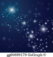 Starry night sky with moon clipart svg transparent stock Starry Night Clip Art - Royalty Free - GoGraph svg transparent stock