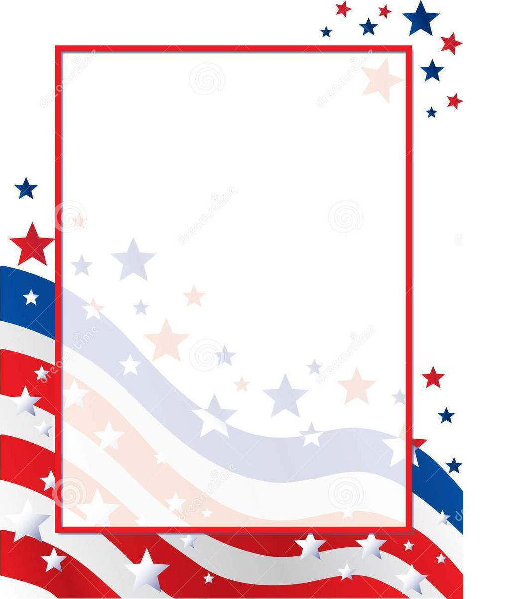 Stars and stripes border clipart free image Stars And Stripes Border Clipart United Background Usa ... image