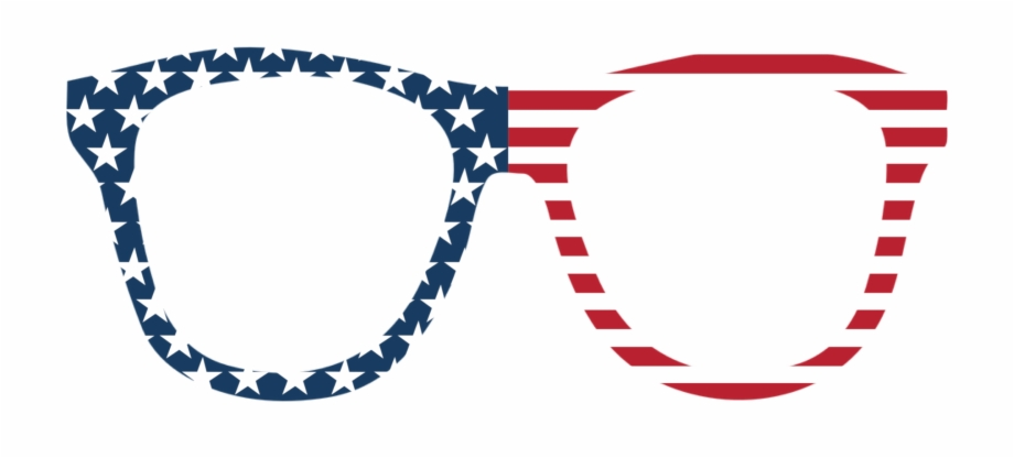 Stars and stripes sunglasses clipart clipart transparent stock Stars & Stripes Sunglasses Photo Booth Prop Free PNG Images ... clipart transparent stock