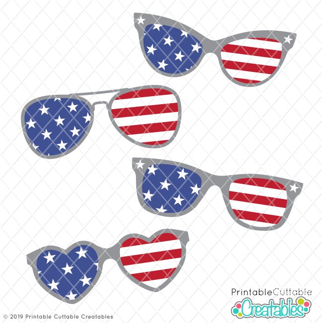 Stars and stripes sunglasses clipart banner transparent library Free 4th of July Sunglasses SVG Files for Cricut & Silhouette banner transparent library