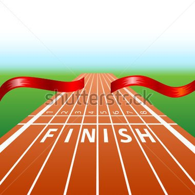 Start line clipart for a horse race