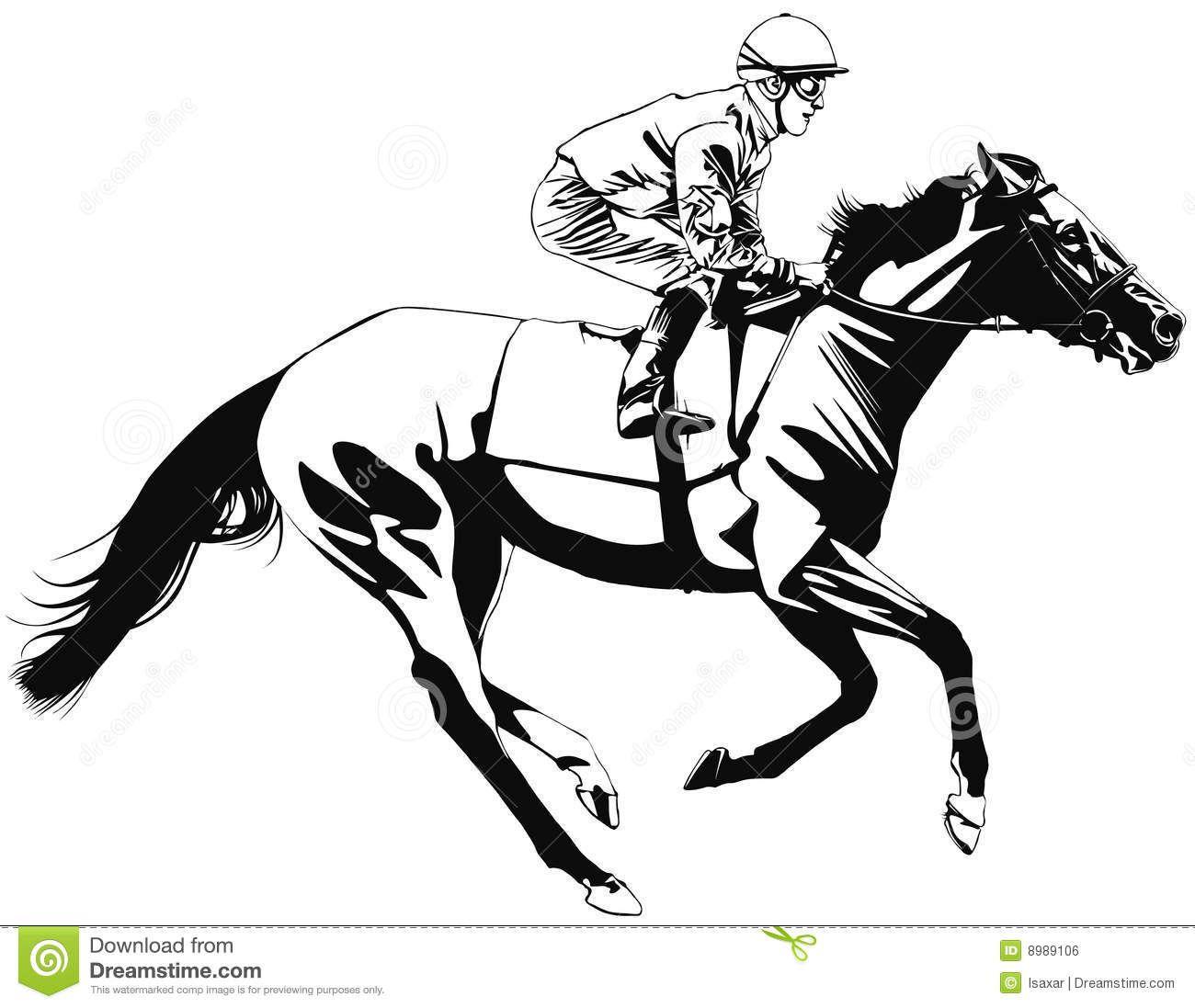 Start line clipart for a horse race jpg library download Race horse clipart - ClipartFest   BC - Night at the races ... jpg library download