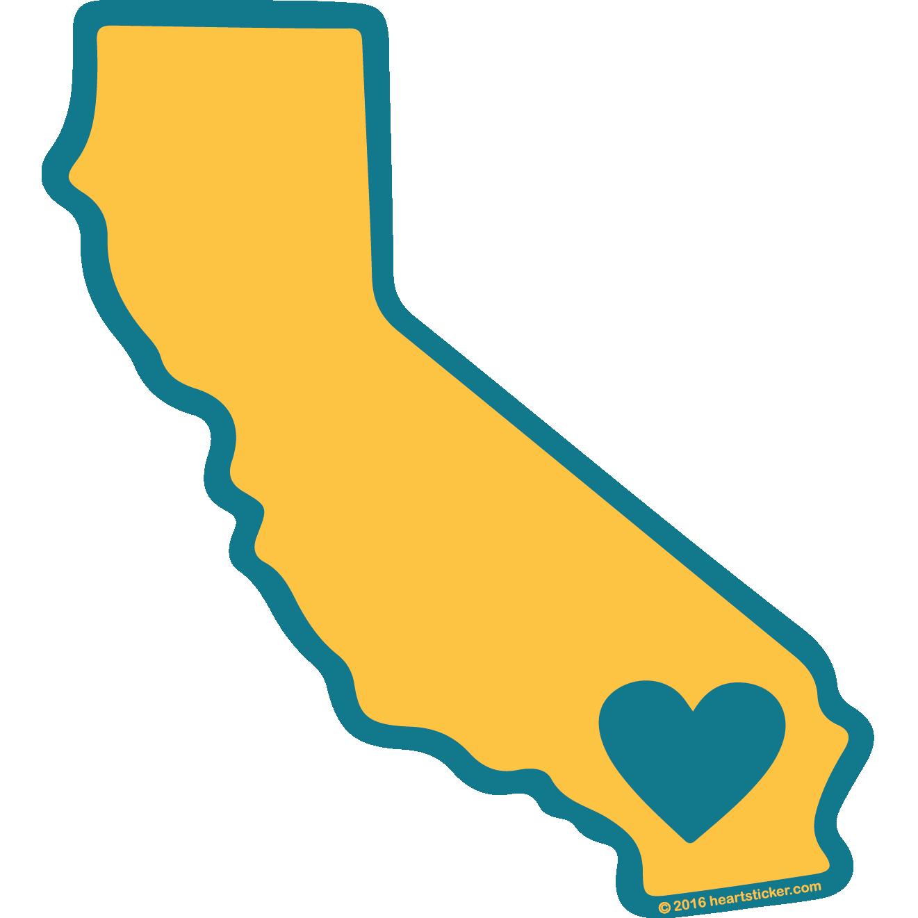 State of california clip art svg Heart in California (SoCal) Sticker,All-Weather Premium Vinyl ... svg