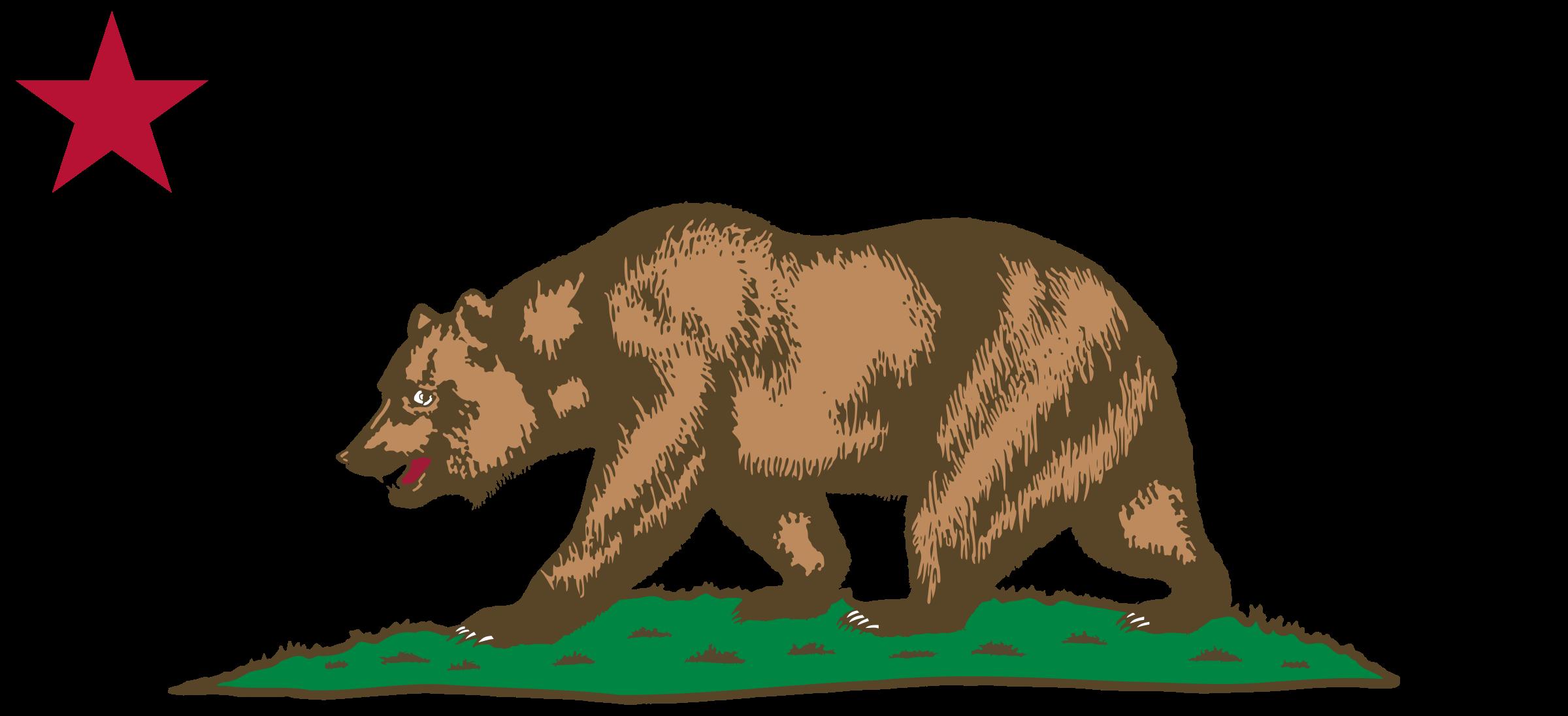 State of california clip art clipart transparent California bear clip art - ClipartFest clipart transparent
