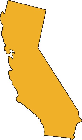 State of california clip art stock California State Yellow Clip Art at Clker.com - vector clip art ... stock
