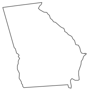 State of georgia map clipart clipart free Geo Map - USA - Georgia clipart free