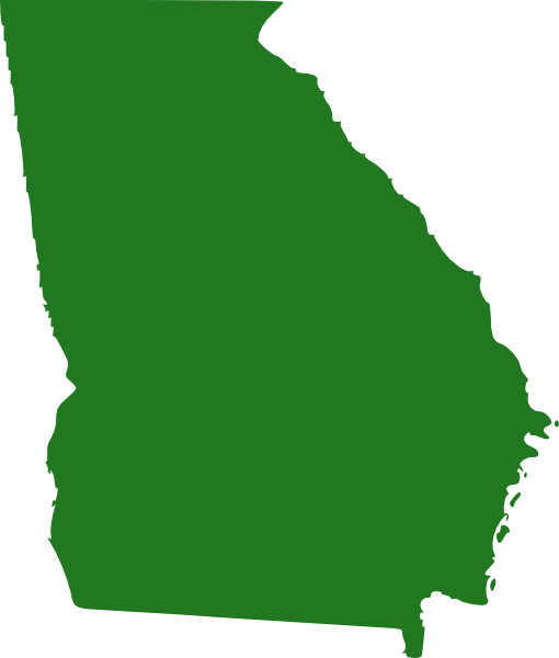 State of georgia map clipart png transparent stock State Of Georgia Map Clip Art at Clker.com - vector clip art ... png transparent stock