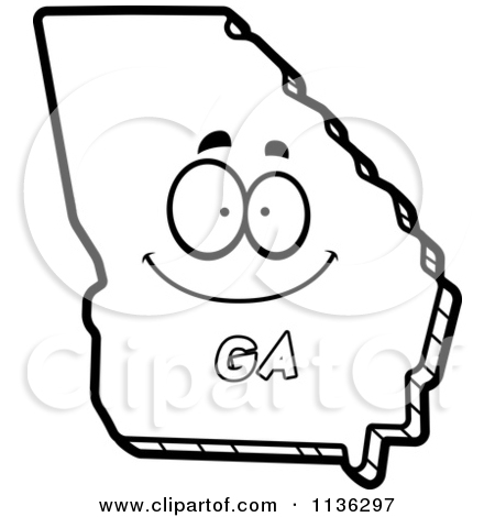 State of georgia map clipart clip transparent Royalty-Free (RF) Georgia Map Clipart, Illustrations, Vector ... clip transparent