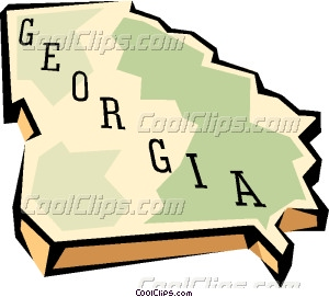 State of georgia map clipart clip royalty free library Georgia state map Vector Clip art clip royalty free library
