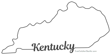 Outline of kentucky clipart clipart black and white Kentucky - Map Outline, Printable State, Shape, Stencil, Pattern clipart black and white