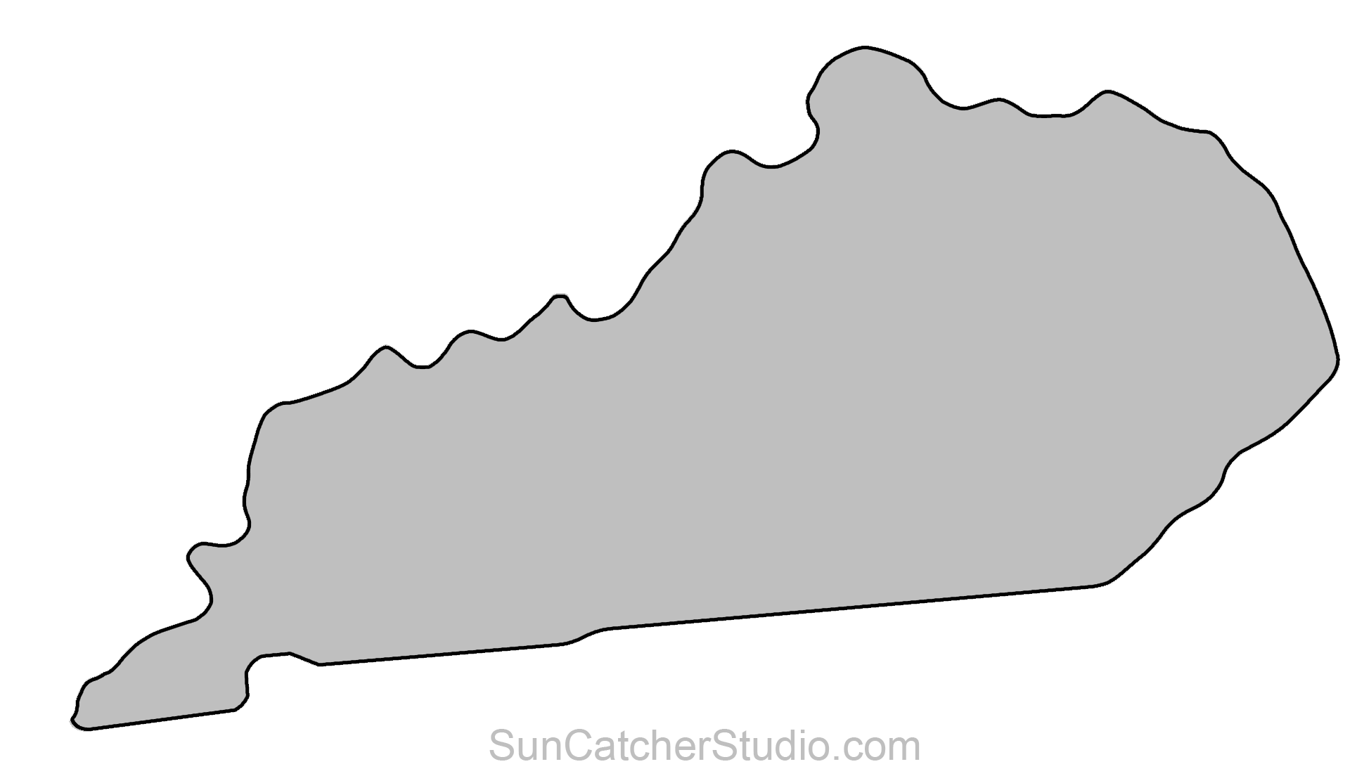 State of kentucky outline clipart image library download Kentucky - Map Outline, Printable State, Shape, Stencil ... image library download