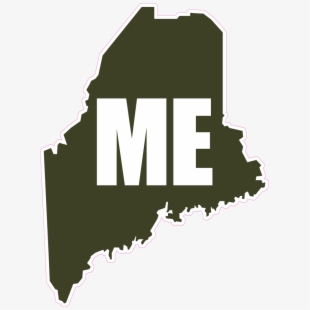 State of maine clipart jpg library library U - S - States - Shapes And Names - Maine - Clipart - Shape ... jpg library library