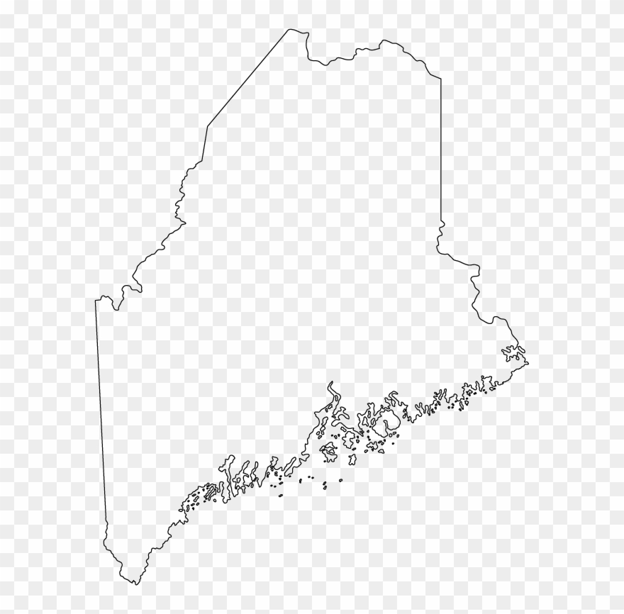 State of maine clipart png black and white download Outline Map Of Maine Clipart - Full Size Clipart (#1992477 ... png black and white download