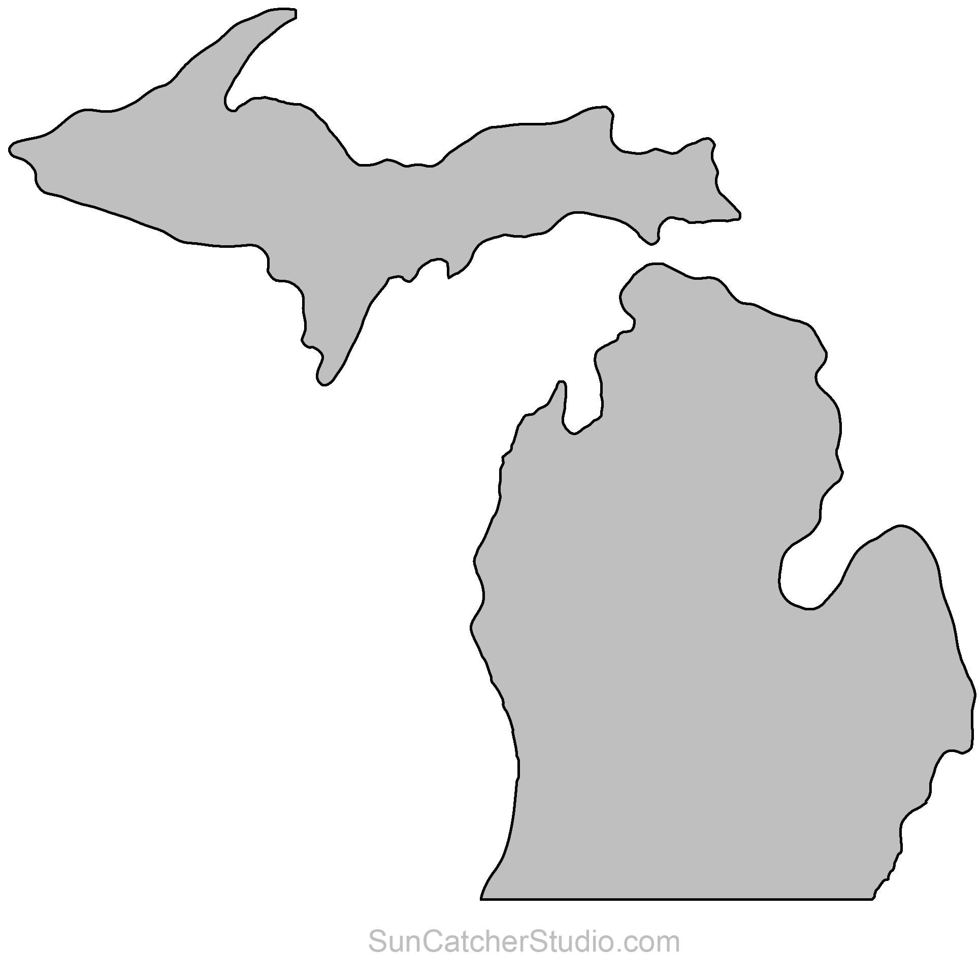 State of michigan clipart jpg stock State Outlines, Maps, Stencils, Patterns, Clip Art (All 50 ... jpg stock