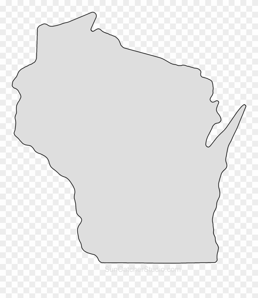 State of wisconsin black and white clipart vector black and white stock Wisconsin Map Outline Png Shape State Stencil Clip ... vector black and white stock