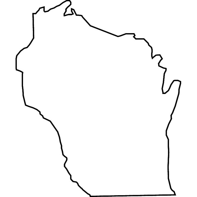State of wisconsin black and white clipart svg royalty free library Wisconsin vector map - Free vector image in AI and EPS format. svg royalty free library