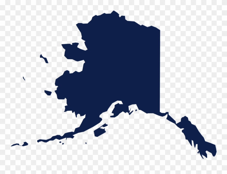 States alaska shape clipart clipart black and white stock Alaska Png - State Of Alaska Clipart (#3687699) - PinClipart clipart black and white stock
