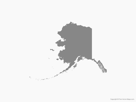 States alaska shape clipart graphic transparent download Vector US State Maps | Free Vector Maps graphic transparent download